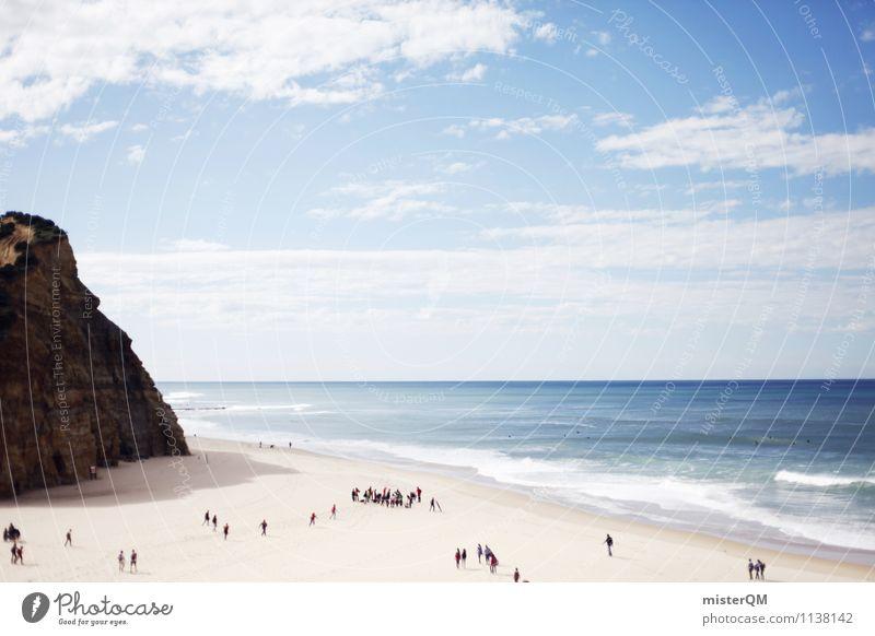 Strandpixel. Kunst ästhetisch Meer Strandspaziergang Strandleben Ferien & Urlaub & Reisen Urlaubsfoto Urlaubsort Urlaubsstimmung Sommerurlaub Mittelmeer Sonne