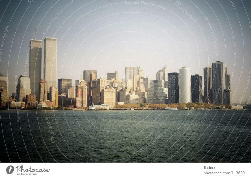 NYC 2000 II Stadt Gebäude Kunst dreckig Hochhaus Verkehr gefährlich USA Skyline Amerika Wahrzeichen Stress Stadtzentrum Stock Manhattan