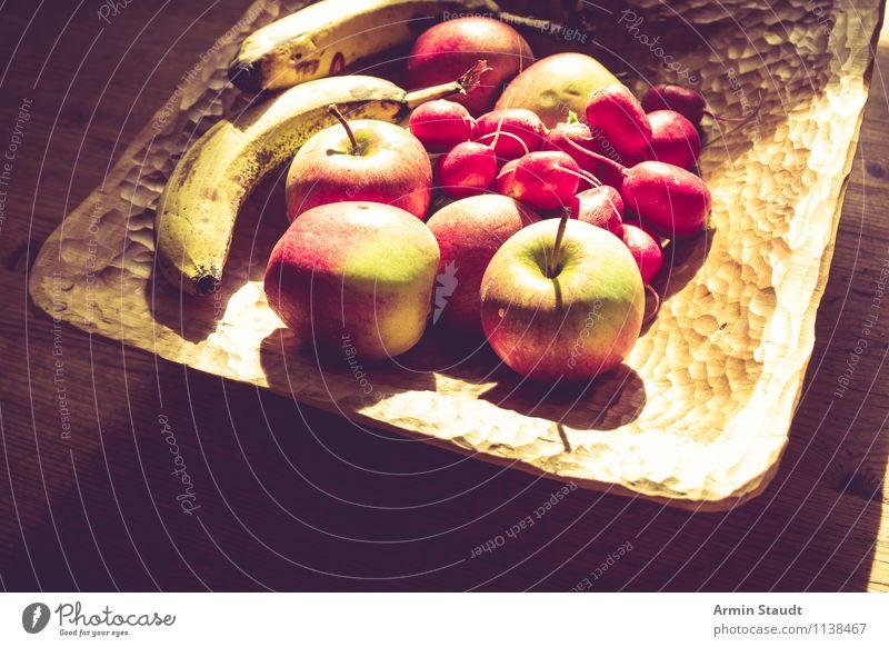 Neulich auf'm Küchentisch II rot Gesunde Ernährung dunkel gelb natürlich Gesundheit Stimmung Lebensmittel hell Lifestyle Frucht Zufriedenheit Design frisch