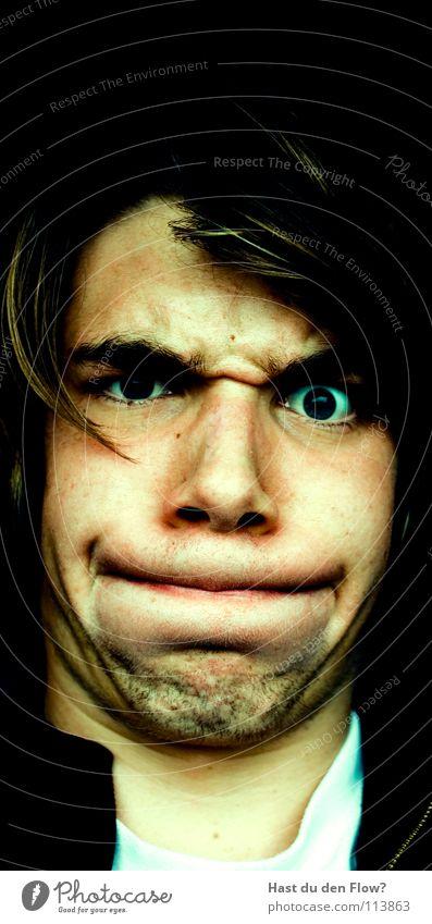 GGRRRMMPPF Mensch blau weiß schön schwarz Gesicht Auge sprechen Kopf Haare & Frisuren Traurigkeit braun Haut maskulin Nase verrückt