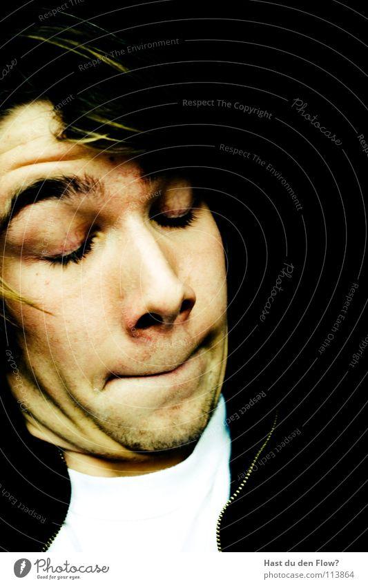 NANA.. tsss.. Mensch blau weiß schön schwarz Gesicht Auge Kopf Haare & Frisuren Traurigkeit braun Haut maskulin Nase verrückt authentisch