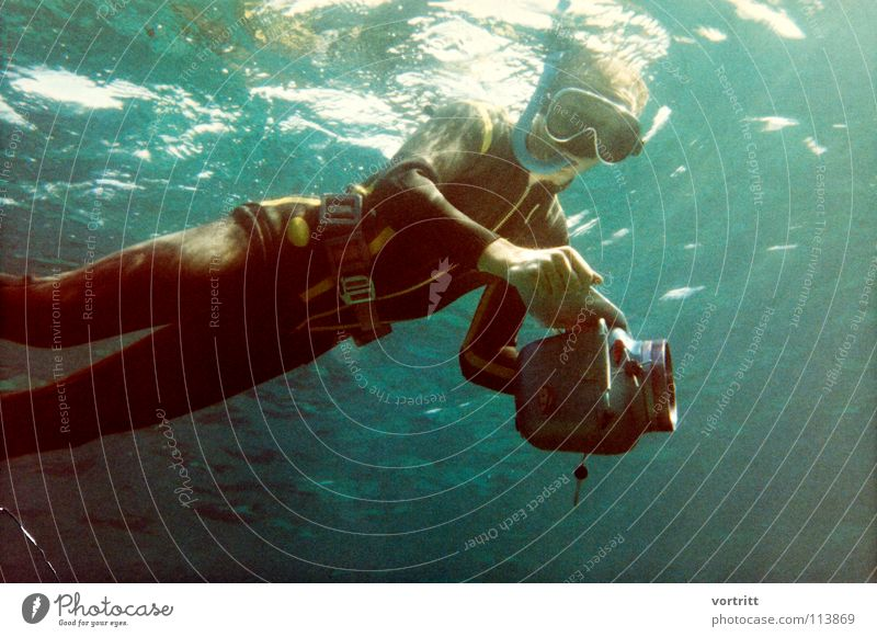 story folgt tauchen Stil Kunst Brille Reflexion & Spiegelung Blei Anzug Oberfläche Schnorcheln filmen Fotografieren Sechziger Jahre Kunsthandwerk Wasser