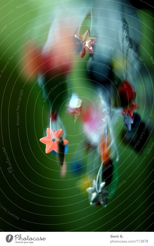 Klimbim Weihnachten & Advent blau grün weiß rot Blatt gelb Kunst Feste & Feiern Tanzen rosa Stern (Symbol) Stoff Handwerk Tiefenschärfe