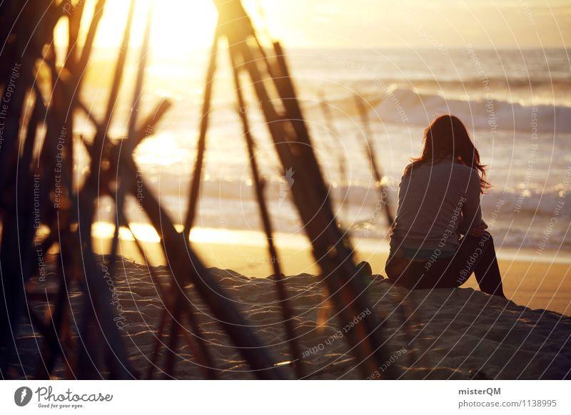 Girl From The Beach. Kunst Abenteuer ästhetisch Zufriedenheit Ferien & Urlaub & Reisen Urlaubsfoto Urlaubsort Urlaubsstimmung Urlaubsverkehr Urlaubsflirt sitzen