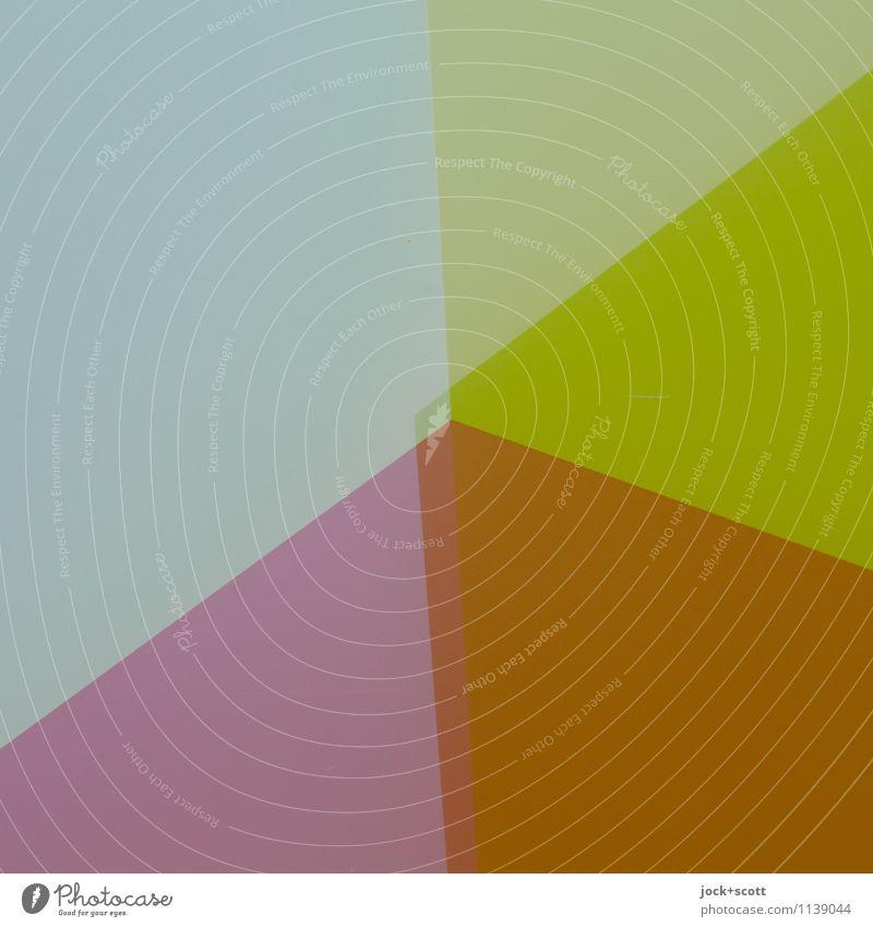 Colorfilm Stil Design Grafik u. Illustration Strukturen & Formen Dreieck ästhetisch eckig einfach trendy modern Einigkeit Gerechtigkeit Ordnungsliebe