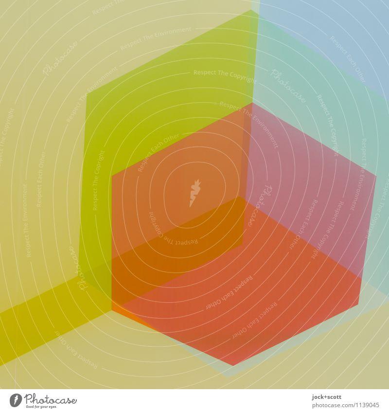 Vielbuntfilm Stil Design Grafik u. Illustration Ornament Sechseck Geometrie Strukturen & Formen eckig einfach fest trendy modern gelb orange loyal Ordnungsliebe
