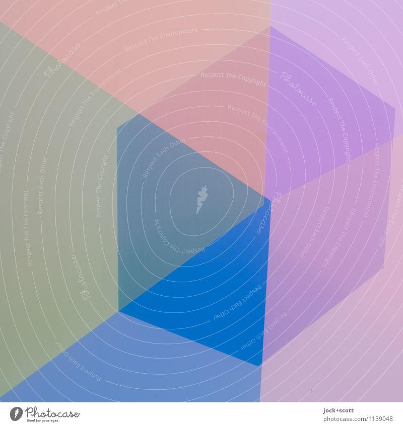 einfach Q Design Grafik u. Illustration Quadrat Quader Strukturen & Formen modern Symmetrie Wandel & Veränderung Doppelbelichtung Reaktionen u. Effekte