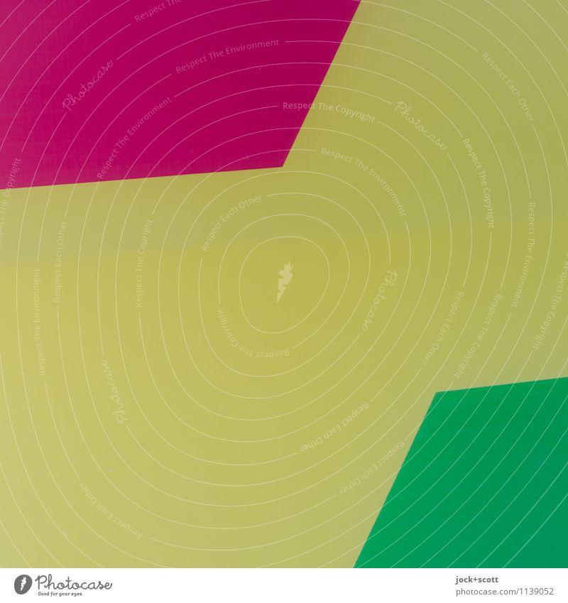 rot gegen grün und gelb Stil Design Grafik u. Illustration Dekoration & Verzierung Ornament Strukturen & Formen Geometrie ästhetisch eckig einfach trendy modern