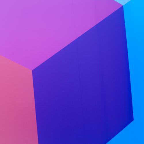 Q in Q blau schön Stil Hintergrundbild Design Dekoration & Verzierung Perspektive ästhetisch Kreativität einfach einzigartig Grafik u. Illustration violett rein