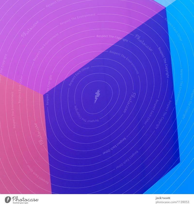 Quadrat in Q Design Grafik u. Illustration Strukturen & Formen eckig einfach blau violett Inspiration Kreativität Doppelbelichtung Reaktionen u. Effekte