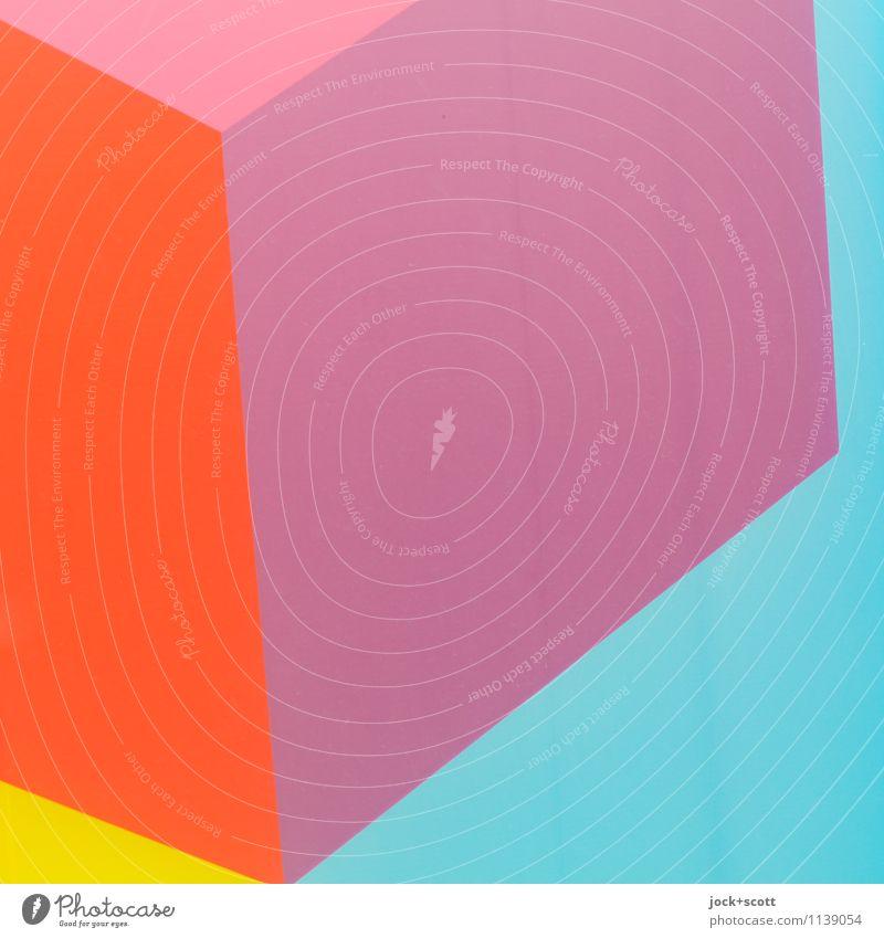 QQ Stil Design Grafik u. Illustration Dekoration & Verzierung Ornament Würfel Quadrat Strukturen & Formen eckig einfach frisch trendy einzigartig modern Kraft
