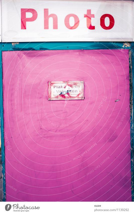 Weibsbild Mauer Wand Schriftzeichen Schilder & Markierungen Hinweisschild Warnschild eckig einfach verrückt trashig rosa Freizeit & Hobby Dienstleistungsgewerbe