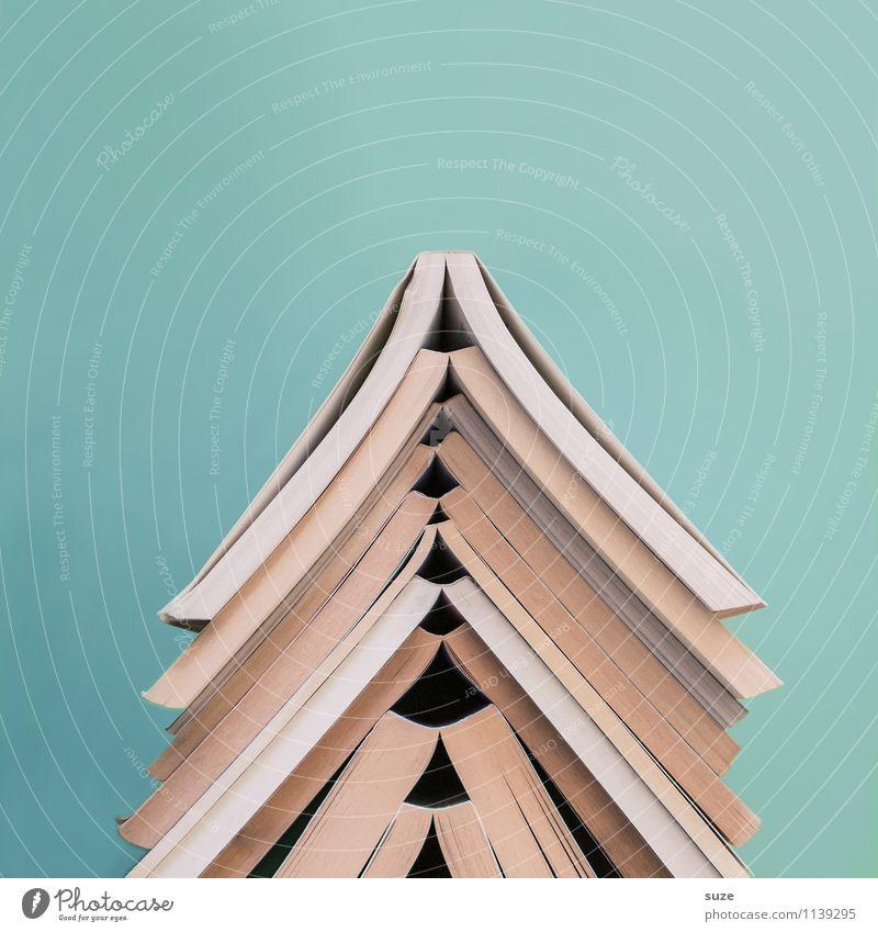 Spätlese Lifestyle Stil Design lesen Bildung Schule lernen Studium Kultur Printmedien Buch Bibliothek Zeichen einfach Neugier rund klug blau Weisheit Beginn