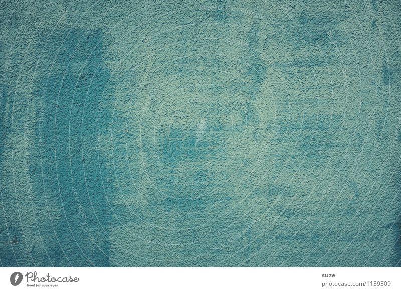 Hier gibt es wirklich nichts zu sehen blau Farbe kalt Wand Hintergrundbild Mauer Stein Fassade Design trist leer einfach Beton ausdruckslos fest graphisch
