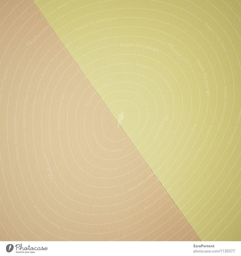 E(b)\G Farbe gelb Linie braun Zusammensein Design Grafik u. Illustration graphisch diagonal Trennung bleich zusammenpassen dezent Grafische Darstellung