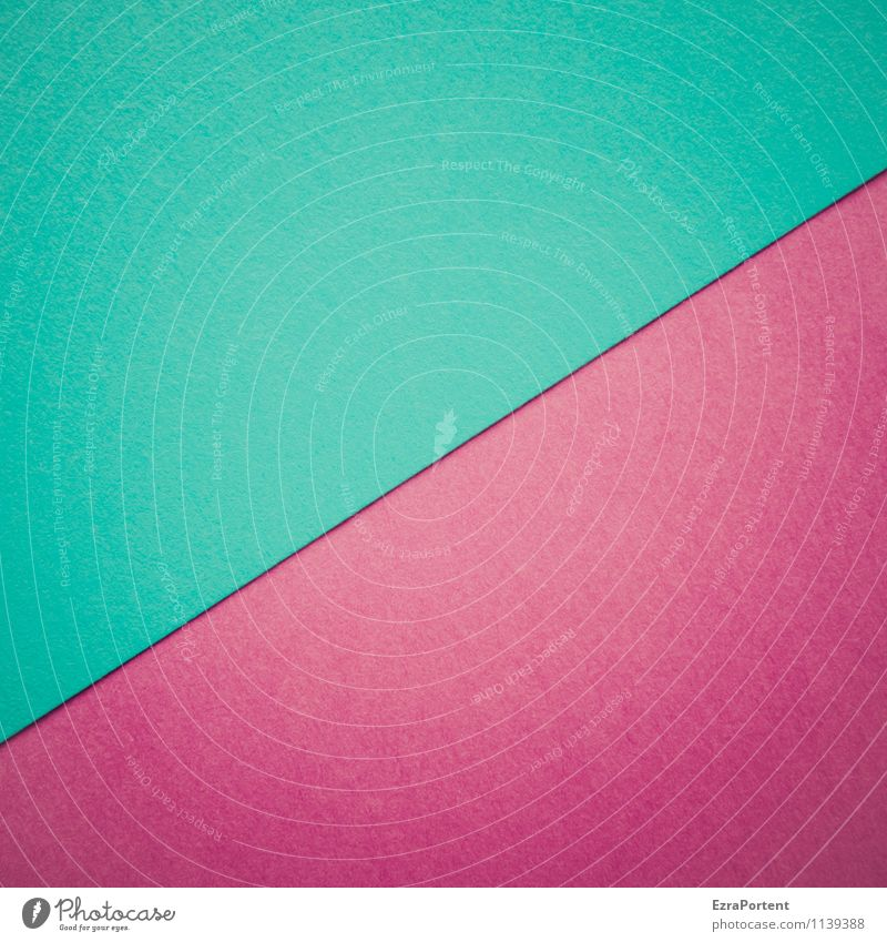 T/V blau Farbe rot Linie hell Design ästhetisch Papier Grafik u. Illustration violett türkis graphisch diagonal eckig Geometrie Basteln