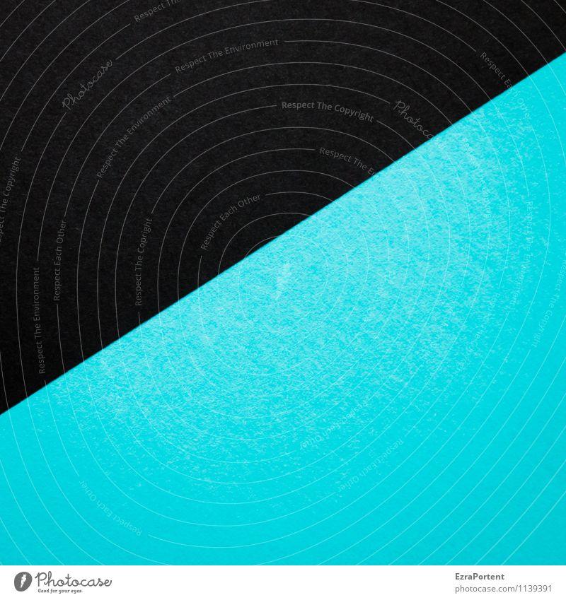 S/T Design Basteln Linie ästhetisch blau schwarz türkis Farbe Grafik u. Illustration Grafische Darstellung graphisch Trennlinie Strukturen & Formen diagonal
