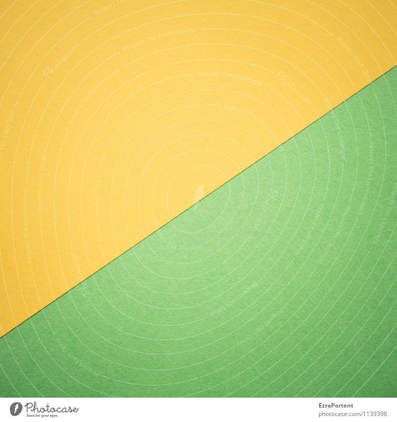 G/G Design Zeichen Linie leuchten ästhetisch hell natürlich gelb grün Farbe Grafik u. Illustration Grafische Darstellung graphisch diagonal Geometrie Stil