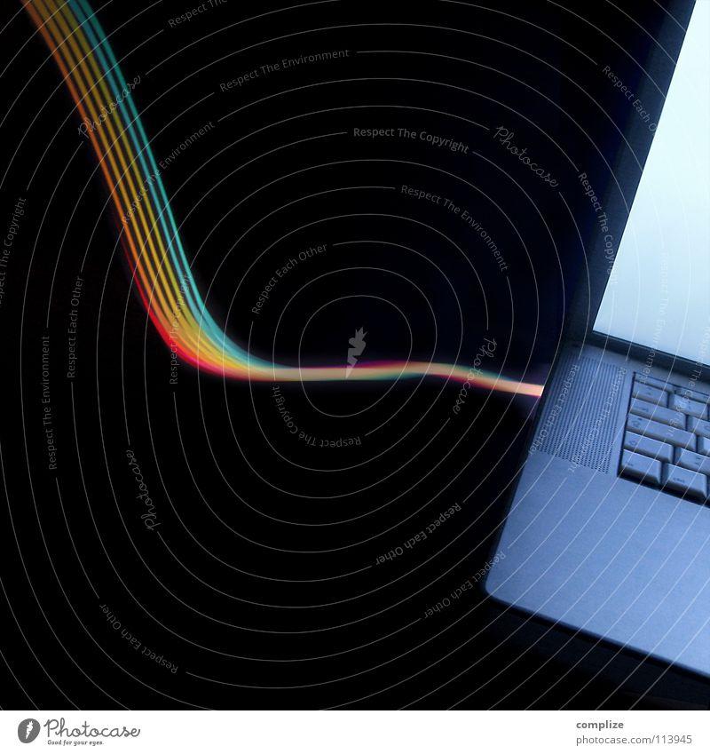 endlich online blau grün Farbe schwarz Straße Beleuchtung Lampe hell Hintergrundbild Informationstechnologie Kunst Arbeit & Erwerbstätigkeit Business Musik