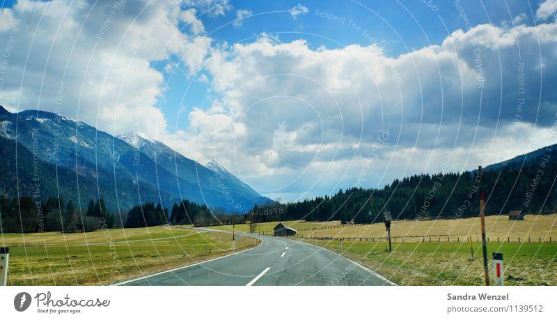 Kärnten Himmel Natur Ferien & Urlaub & Reisen blau Pflanze Sommer Sonne Landschaft Wolken Ferne Wald Berge u. Gebirge Umwelt Straße Wiese Freiheit