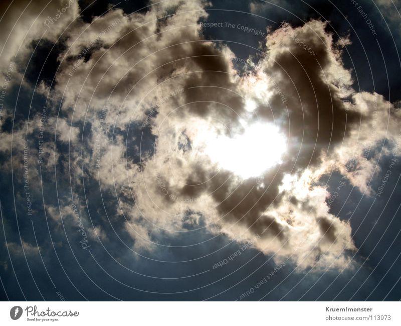 Sun schön Himmel Sonne Sommer Wolken Wärme Fröhlichkeit Physik