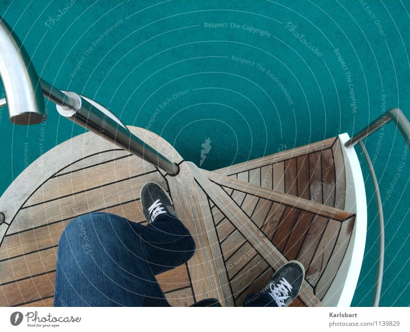 Drunken Sailor Lifestyle Stil Freizeit & Hobby Ferien & Urlaub & Reisen Tourismus Ausflug Abenteuer Freiheit Kreuzfahrt Sommerurlaub Treppe Treppengeländer