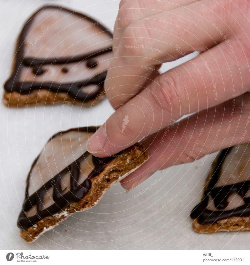 schnapp und weg Keks Dieb Backwaren Bäckerei Lebkuchen Kuchen Glocke Diebstahl süß Ernährung Süßwaren Hand Griff nehmen greifen Weihnachtsgebäck Plätzchen