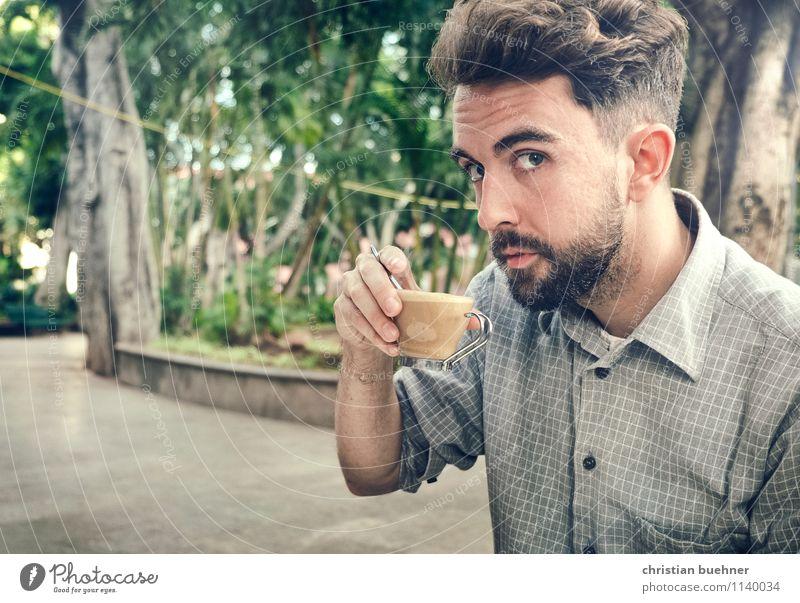 CoffeeTime Ferien & Urlaub & Reisen Jugendliche Sommer Erholung Junger Mann 18-30 Jahre Erwachsene Glück Zeit Park maskulin Zufriedenheit Freizeit & Hobby