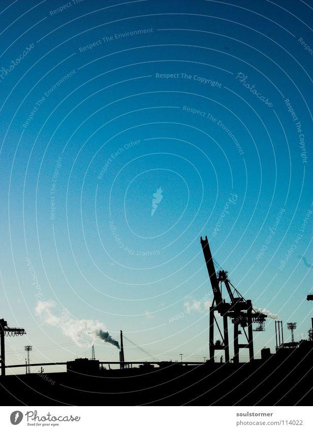 noch mehr Arbeitstiere Himmel weiß blau schwarz Wolken Arbeit & Erwerbstätigkeit oben Wasserfahrzeug Hamburg hoch Industrie mehrere Hafen aufwärts viele Gewicht