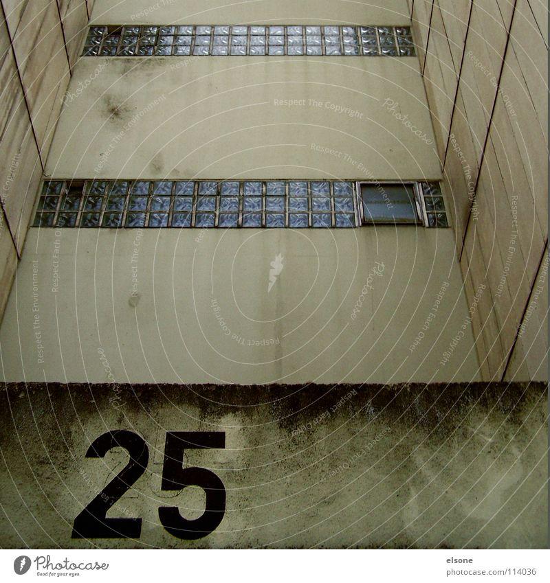 ::25-RESIDENT:: Haus Block Wohnhochhaus Gesellschaft (Soziologie) Häusliches Leben Plattenbau Fenster Treppe Gebäude Ziffern & Zahlen Typographie 20 beige grün