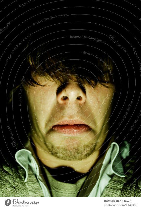 Haarfe Mensch blau weiß schön schwarz Gesicht sprechen Gefühle Kopf Traurigkeit Stil braun Angst Haut maskulin