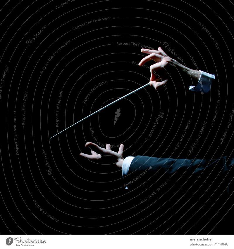 Dirigent Hand Erholung Gefühle Feste & Feiern Musik Musikinstrument Finger lernen hören Konzert harmonisch Bühne Bach Publikum singen Ton