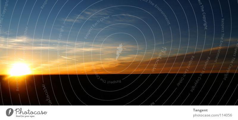TAG zu NACHT blau Sonne Wolken Ferne schwarz orange Zeit USA Panorama (Bildformat) Wolkenhimmel Grand Canyon