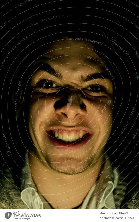 kä Mensch blau weiß schön schwarz Gesicht Auge sprechen Gefühle Kopf lachen Traurigkeit Stil braun Angst
