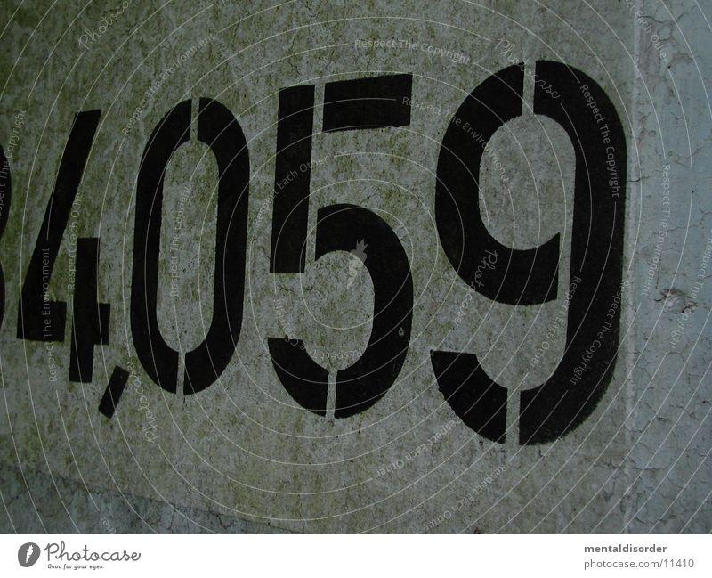 4,059 Ziffern & Zahlen Beton Komma leer Typographie Schriftzeichen Mauer Fototechnik gedruckt Farbe Strukturen & Formen