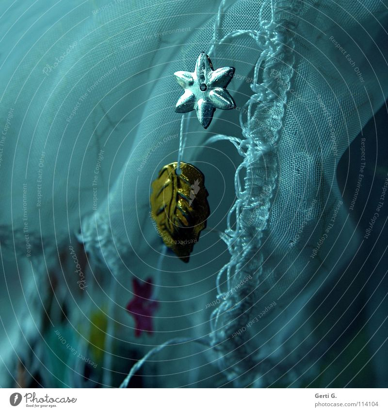 SilberStern Weihnachten & Advent weiß blau Blatt Spielen Feste & Feiern Kunst gold Stern (Symbol) Stoff Schnur Handwerk silber Tradition Türkei