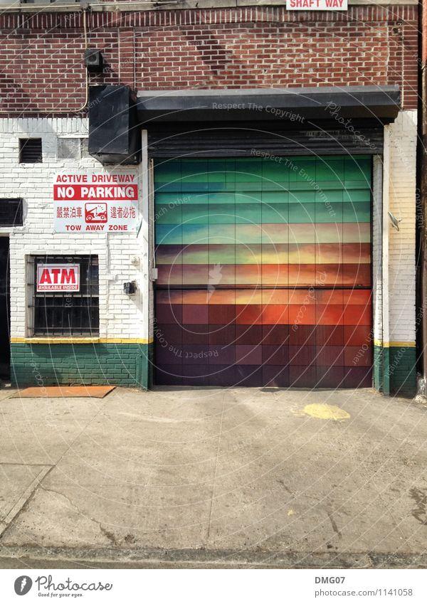 Pantone-Garage New York City NYC Amerika Stadt Stadtzentrum Stadtrand bevölkert überbevölkert Haus Industrieanlage Fabrik Parkhaus Bauwerk Gebäude Architektur