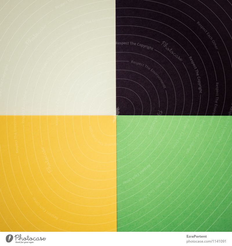 w|s|g|g grün Farbe weiß schwarz gelb Hintergrundbild Linie hell Design ästhetisch Grafik u. Illustration graphisch Quadrat Geometrie Basteln zusammenpassen