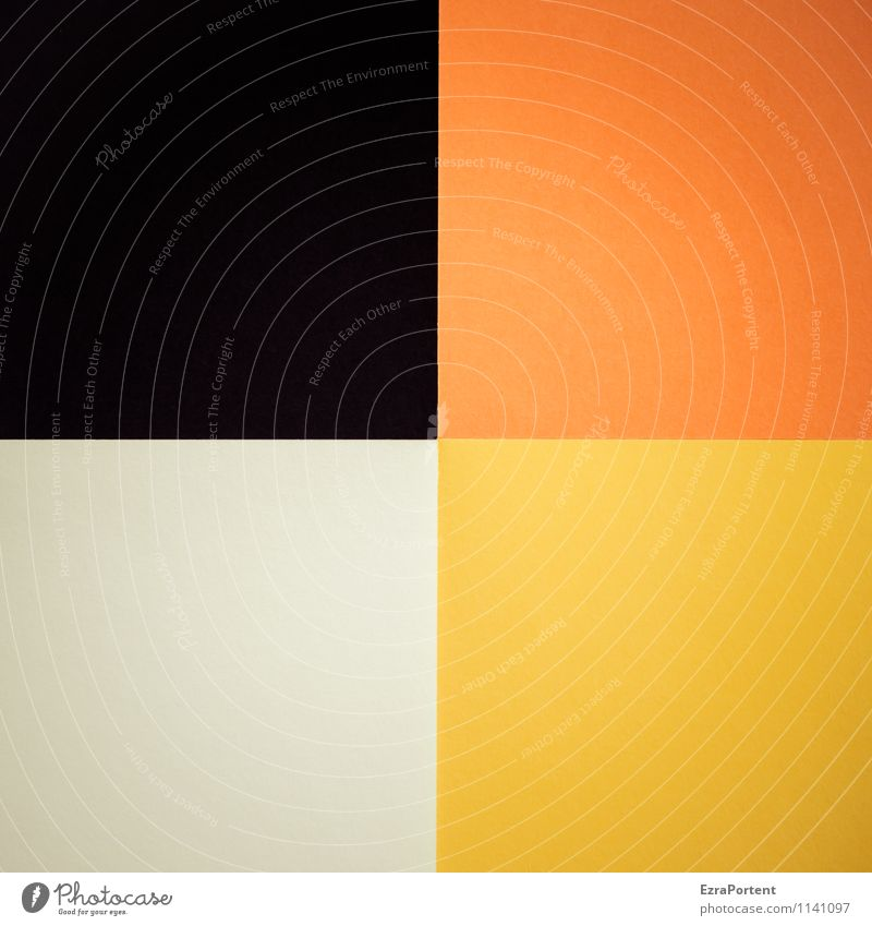 s|o|g|w Design Basteln Linie ästhetisch gelb orange schwarz weiß Farbe Grafik u. Illustration Grafische Darstellung graphisch Strukturen & Formen Quadrat