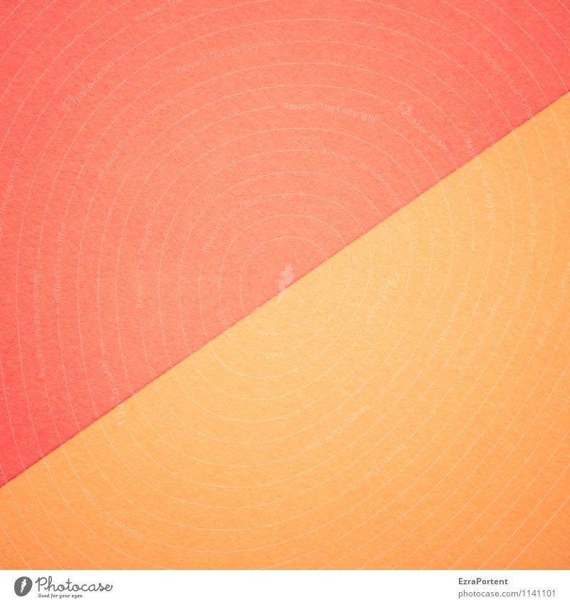 R/O Design Basteln Linie ästhetisch hell orange rot Farbe Grafik u. Illustration diagonal Trennlinie Strukturen & Formen Geometrie zusammenpassen
