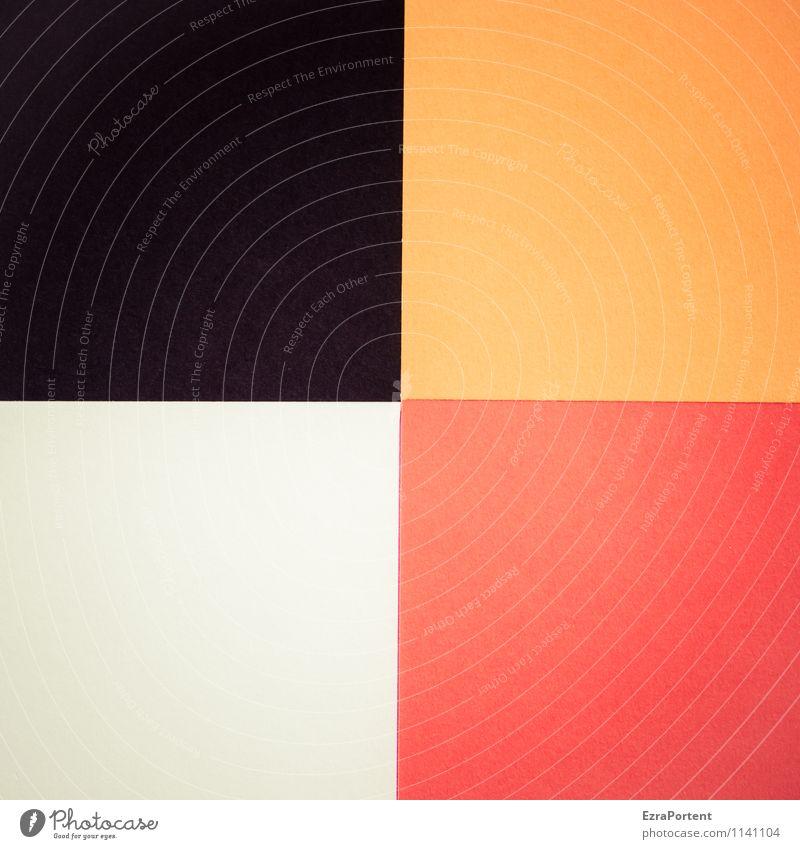 s|o|w|r Design Basteln Linie ästhetisch orange schwarz weiß Farbe Grafik u. Illustration dreckig schlampig Geometrie Quadrat Trennlinie 4 leuchten