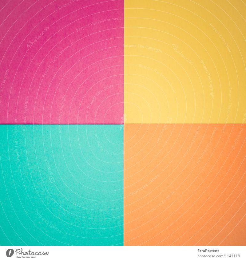 v|g|o|t blau Farbe gelb Linie hell orange Design ästhetisch Papier Grafik u. Illustration viele violett türkis graphisch Quadrat Basteln