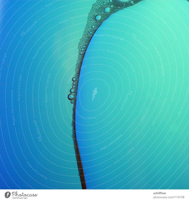 Bogenperlen I blau Ferne Hintergrundbild leuchten Wassertropfen türkis tief Flüssigkeit blasen leicht Blase Alkohol Bogen Schaum Farbenspiel Sekt