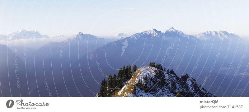 Zu Neuen Gipfeln. Umwelt Natur Landschaft ästhetisch Ferne Berge u. Gebirge Bergsteigen Berghang Bergkette Bergkuppe Bergkamm Bergwiese Alpen Horizont Freiheit