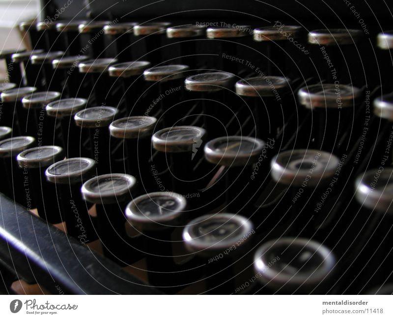 Tastatur Schreibmaschine Buchstaben berühren alt