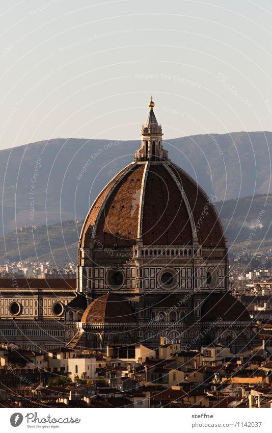 Kirche: Florenz Sonnenaufgang Sonnenuntergang Schönes Wetter Hügel Toskana Italien Skyline Dom Sehenswürdigkeit Wahrzeichen Religion & Glaube Architektur