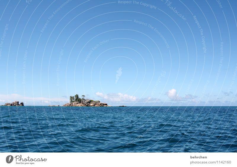 einmal fernweh bitte... Himmel Ferien & Urlaub & Reisen blau schön Sommer Wasser Sonne Meer Einsamkeit Landschaft Wolken Freude Strand Ferne Glück Freiheit