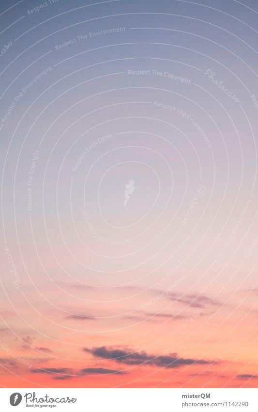 Vanilli Sky. Himmel Himmel (Jenseits) Kunst rosa Horizont Zufriedenheit ästhetisch Romantik Abenddämmerung verträumt himmelblau Himmelskörper & Weltall