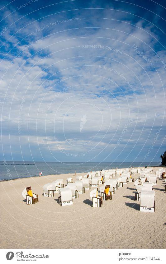 strandkorb Strandkorb Meer Sandstrand Rügen Sommer Küste Natur Landschaft