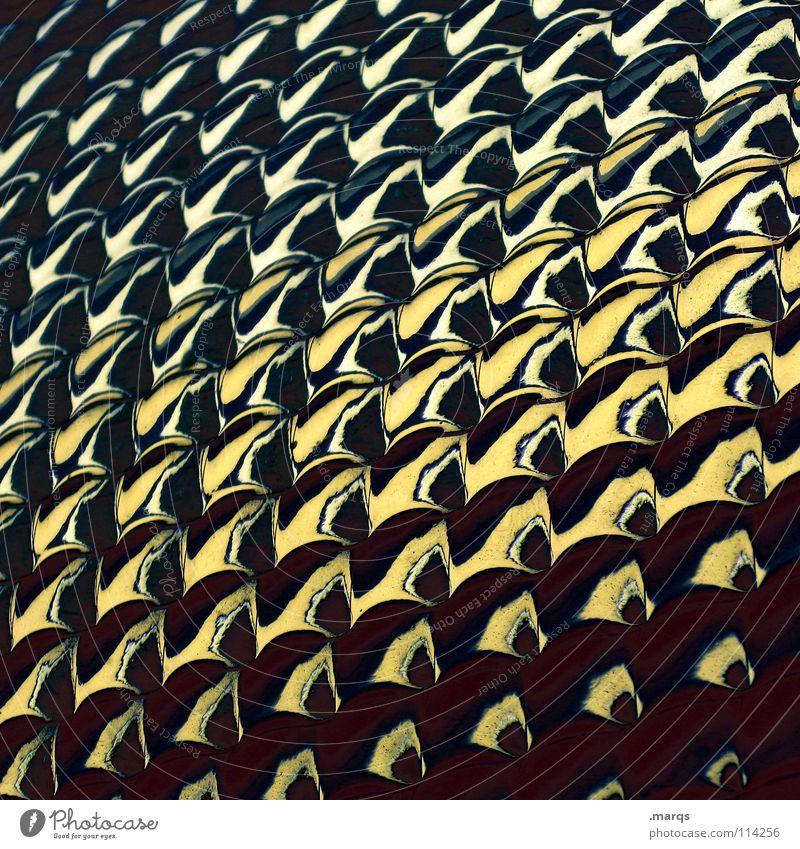 Gradient II Strukturen & Formen Oberfläche Muster Glätte Geometrie Farbverlauf Verlauf Hintergrundbild glänzend Bruch Ecke Zeile gelb schwarz braun dunkel